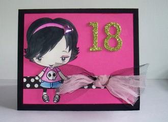 18th Birthday Card for Paula