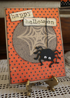 Spider and Web Halloween Card