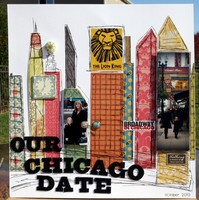 Our Chicago Date- Crate Paper  and Helmar Adhesive