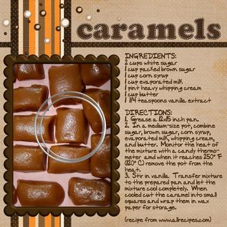 Recipe:  Caramels