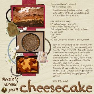 Recipe:  Chocolate Caramel Pecan Cheesecake