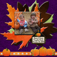 Mason & Emma in the Pumpkin Patch