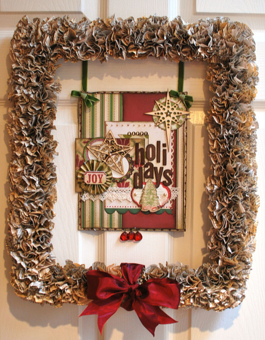 Altered Christmas Framewreath Tutorial A Cherry On Top