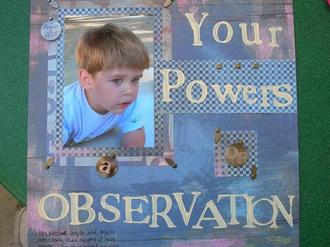 Your Powers of Observation