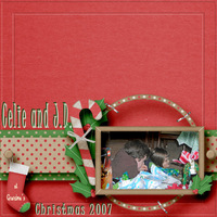 JD and Celie Christmas 2007