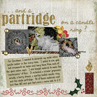 ...and a Partridge On a Candle Ring?...