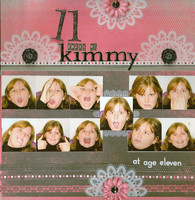 """11 reveal""  11 faces of Kimmy at age 11"