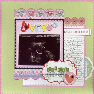 """""""Love You Ultrasound Layout"""" - LYB Cupcake Love CT Reveal"""