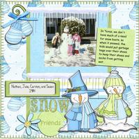 Snow Friends - Jan Sketch Challenge