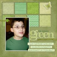 He Loves Green