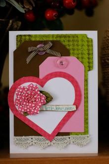 """A Little Love Note"" - Feb Cricut Challenge"