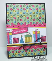 New Nikki Sivils, Scrapbooker 'Celebrate' card