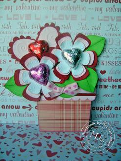 Valentine Flower Pot Card