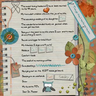Things That Make Me Happy - Feb Journaling Challenge
