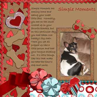 Simple Moments - Feb Scrap Your Life Challenge