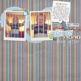 Baby behind bars