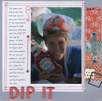 Dip it - ABC book letter D