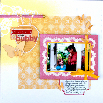 Butterflies Love Bubby *Misting and Masking Reveal*