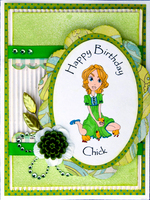 happy birthday chick card