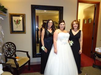 Julie Getting Dressed For Wedding