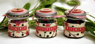 Altered Mini Jam Jars