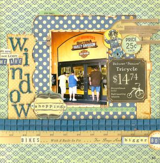 June Sketch Challenge- Window shopping