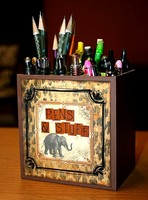 Altered Pen Holder **Bo Bunny Zoology CT Reveal**