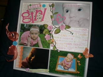 Baby Girl altered tray
