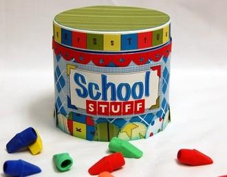 *Nikki Sivils, Scrapbooker* School is Cool Altered Container