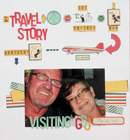 my Travel Story...visiting G & J **October Afternoon Boarding Pass** CT Reveal