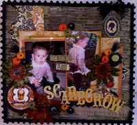 Cutest Lil Scarecrow (using Pink Paislee Phantom set.)
