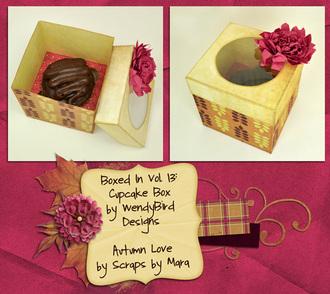 Autumn Love Cupcake Box