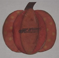Pumpkin Shaped Card