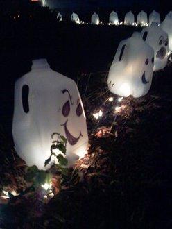 Milk Jug Ghost Laterns...