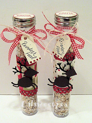 reindeer food using trendy craft tubes