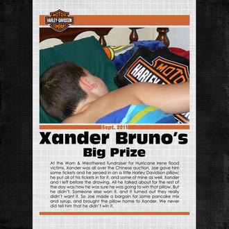 Xander Bruno's Big Prize