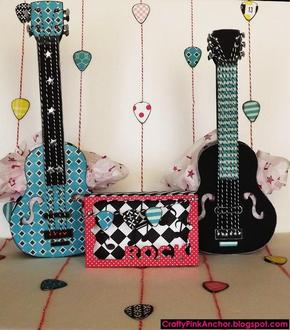 Rockin' Guitar Gift Bags and Card