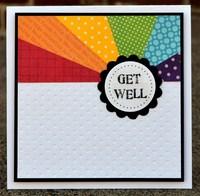 get well rainbow card