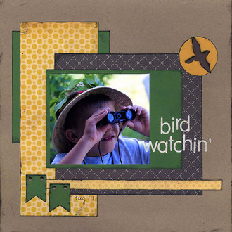 bird watchin' (Jan 2012 Scraplift the GCT Challenge)