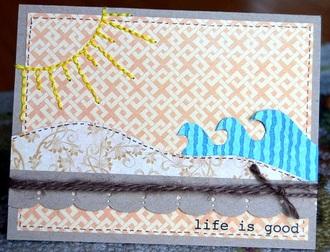 life is good beach card