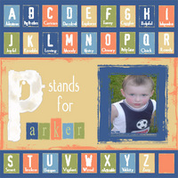 """P"" stands for Parker * Digital Scrapbook Memories Col. 2 *"