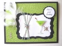 Cocktail Birthday Card