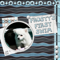 Frosty's First Swim