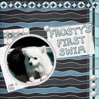 Frosty's First Swim