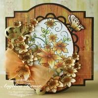 Orange Clematis {Heartfelt Creations}