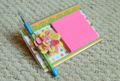 how to make a post it holder tutorial