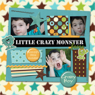 Little Crazy Monster Faces