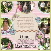 Giant Pink Marshmallows