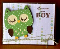 Hoo-ray its a boy card