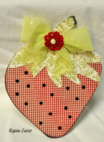 Strawberry Shaped Card